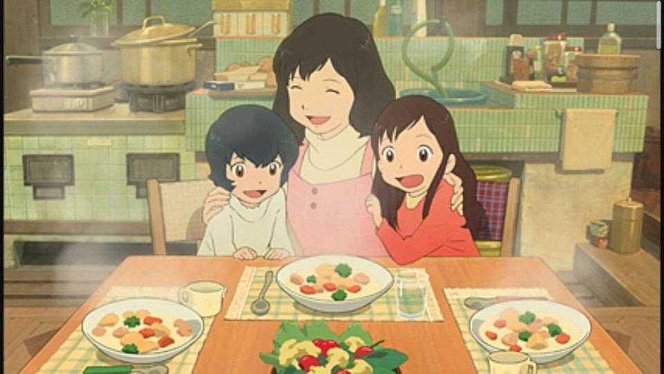 Ookami Kodomo no Ame to Yuki Wolf Children Ame and Yuki family