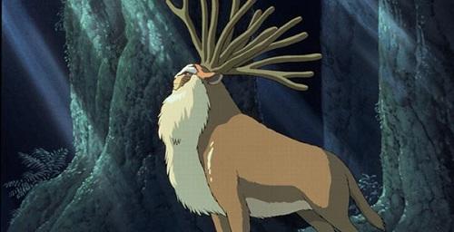 deer princess mononoke characters
