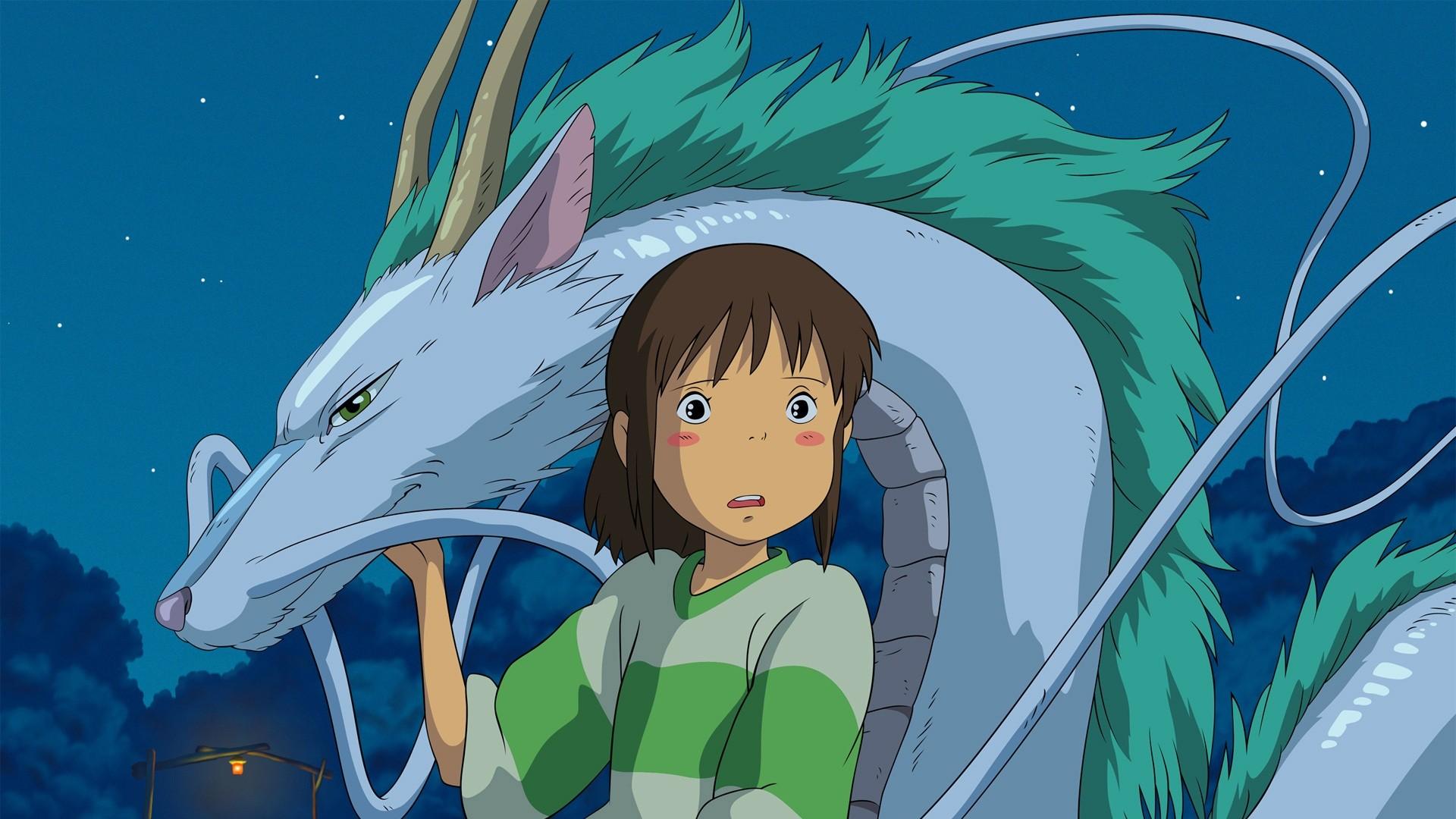 Spirited Away Haku Chihiro 1