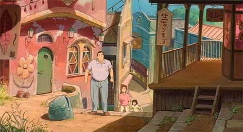 Spirited Away Chihiro Ogino, Akio Ogino, and Yuuko Ogino