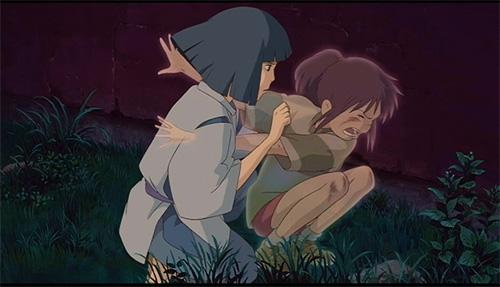 Spirited Away Haku and Chihiro Ogino
