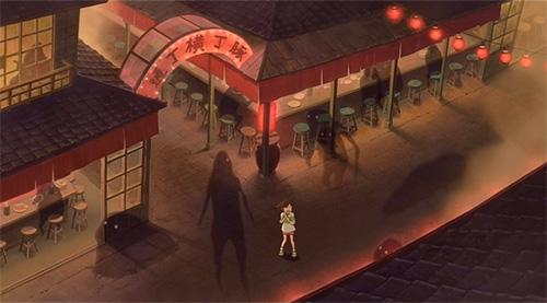 Spirited Away Chihiro Ogino and spirits