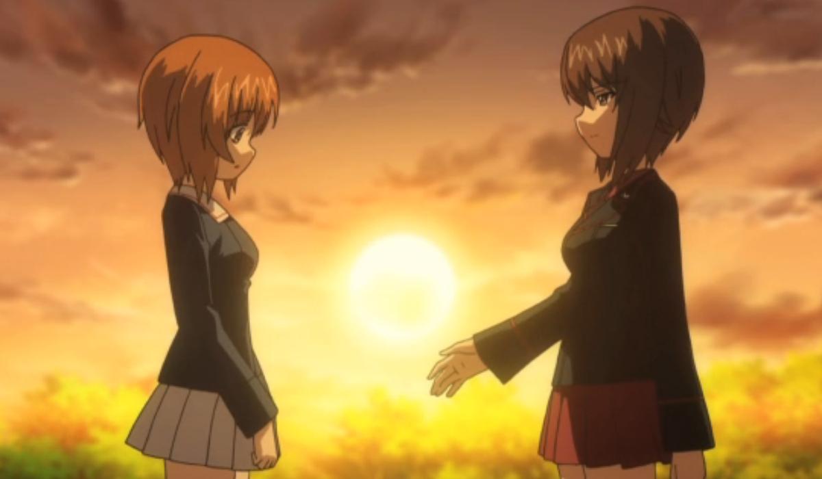 Girls Und Panzer Miho and Maho Nishizumi