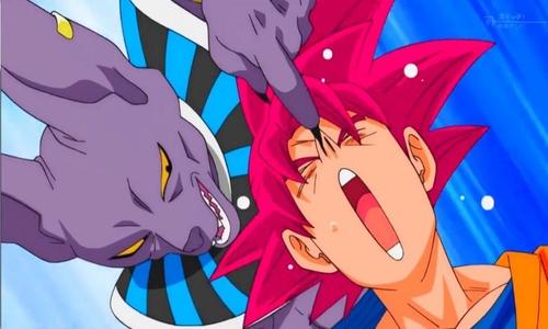 Beerus fighting Goku Dragon Ball Super Villain