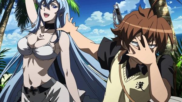 Akame ga Kill! Hot Tatsumi Esdeath Island
