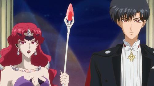 Sailor Moon Crystal Queen Beryl and Mamoru Chiba