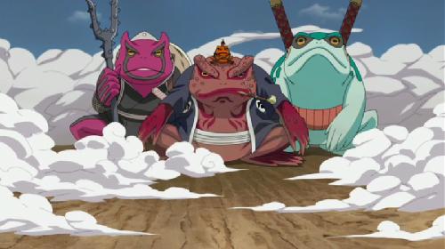 Naruto toads