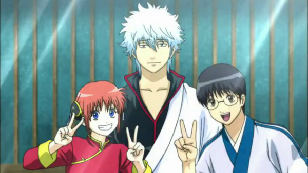 Gintama': Enchousen, Sakura, Gintoki Sakata, Shinpachi Simura