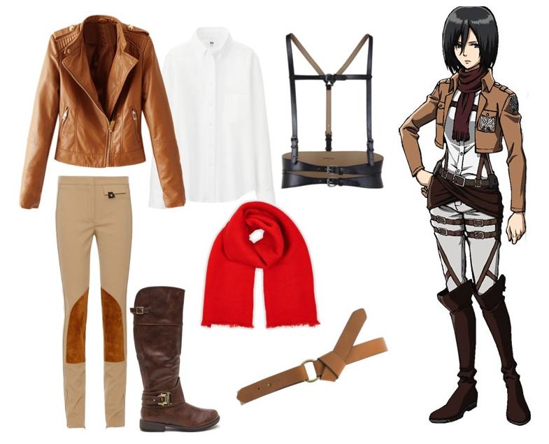 Mikasa Ackerman Shingeki no Kyojin outfit