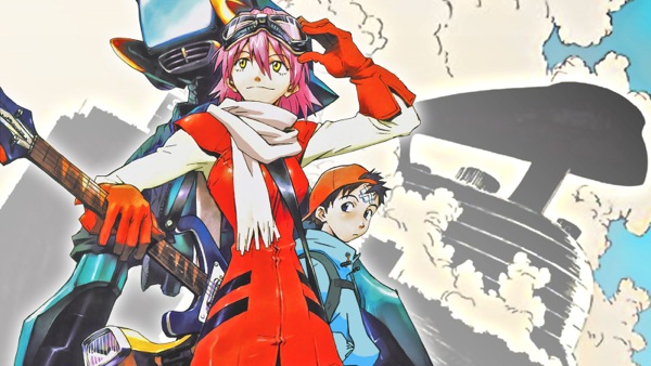 FLCL Cool anime Naota Nandaba Haruko Haruhara