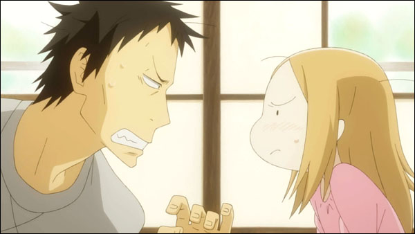 Bunny Drop Daikichi and Rin anime family