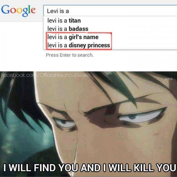 Attack on Titan Levi Google