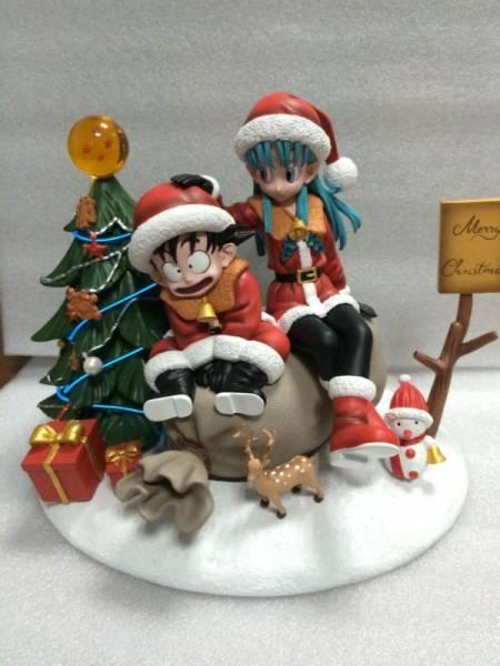 Dragon Ball DjFungShung Kid Goku & Bulma Merry Christmas Figure