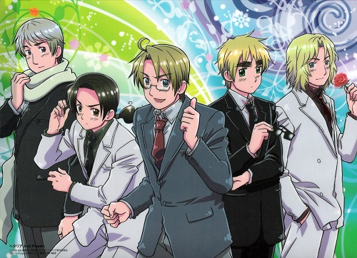 Hetalia Axis Powers bishounen anime