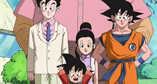 dragon ball z son anime family