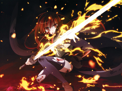 "Shakugan no Shana: Shana ""Flaming Red-Haired Blazing-Eyed Hunter, Hirai Yukari"""