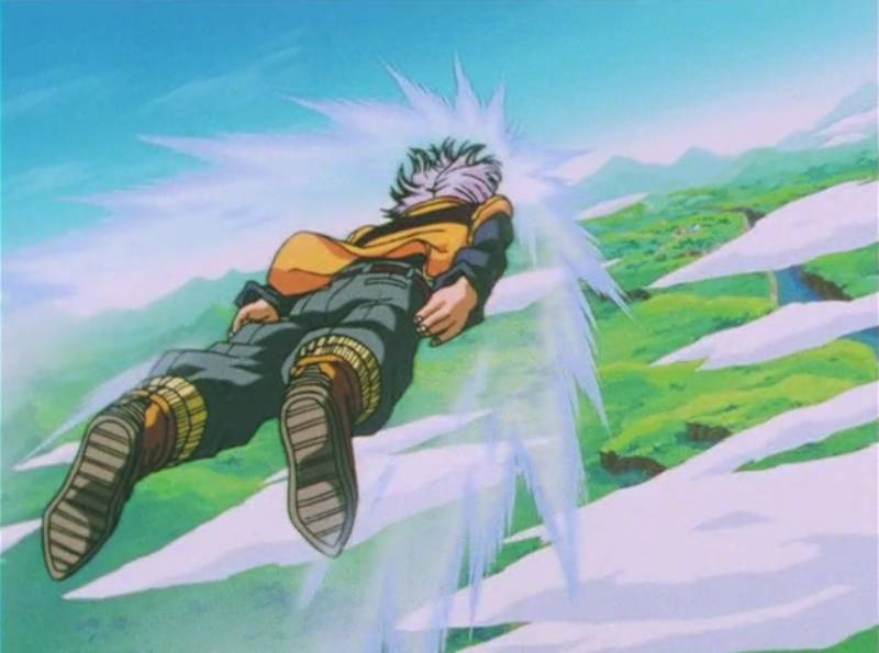 Dragon Ball Z, Trunks, flying anime characters