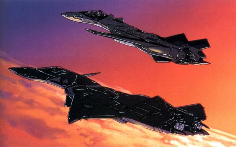 Macross Plus, flying anime