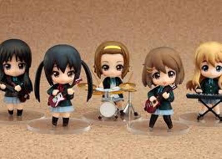 K-On! Yiu, Mio, Ritsu, Asuza, Tsumogi