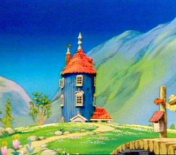 The anime house from Tanoshii Muumin Ikka