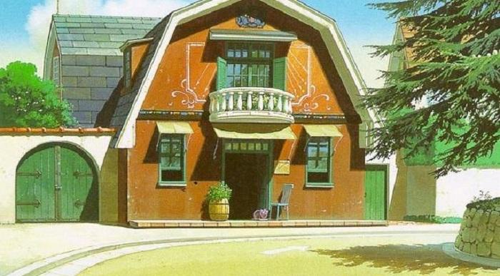 The anime house from Mimi wo Sumaseba