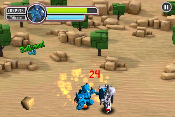 Tenkai Knights, Game, Tributon, Android, iOS