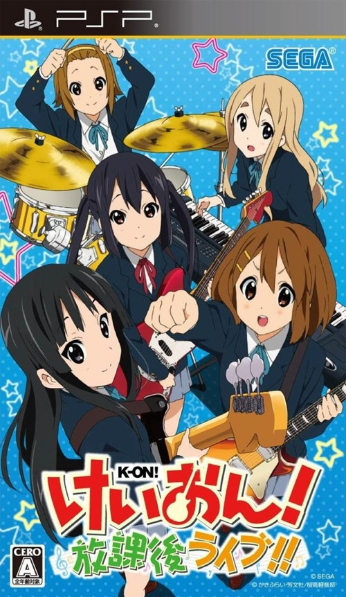 K-On! Houkago Live!! K-On! Game PSP Cover