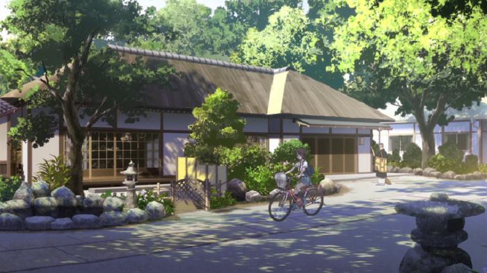 The anime house from Tari Tari