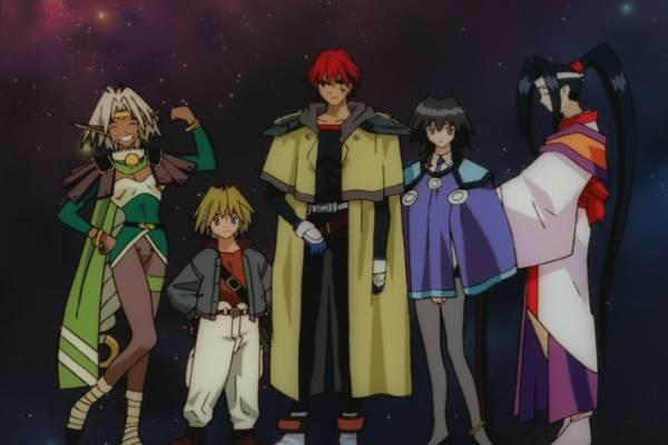 Outlaw Star, Anime, Friendship, Friend, Gene Starwind, James Hawking, Melfina