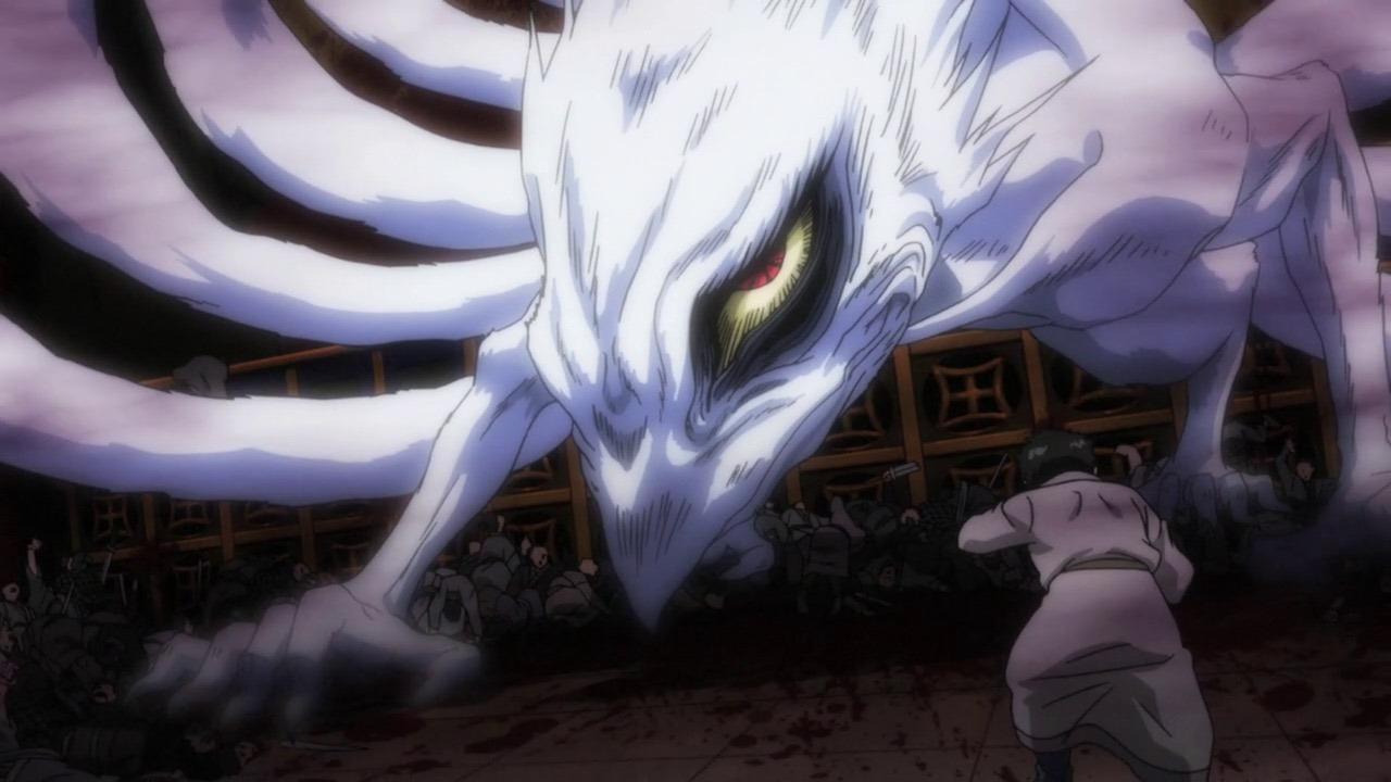 Hakumen no Mono anime villain