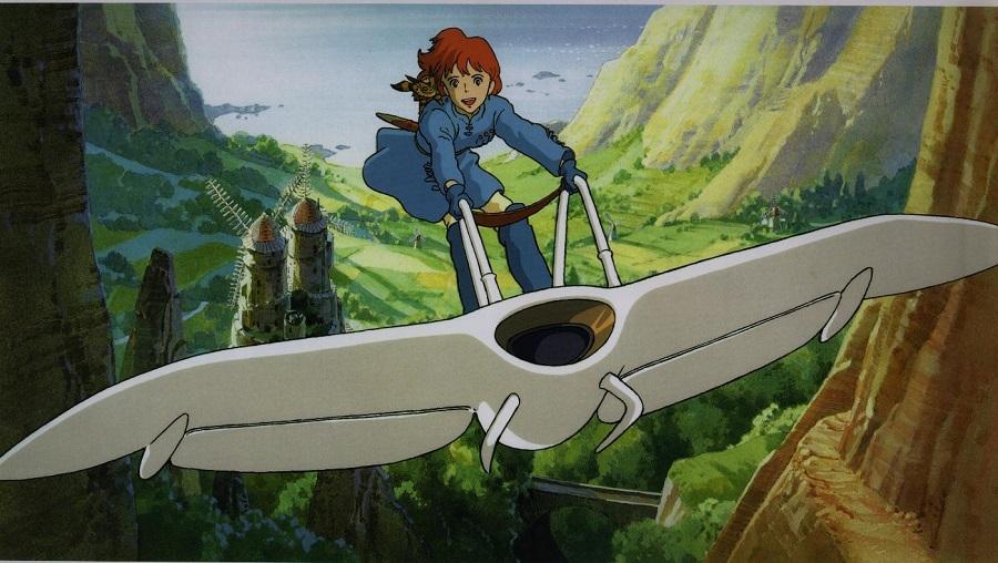 Kaze no Tani no Nausicaä - Nausicaä on her glider Best Anime Movies to Kick-Start 2016