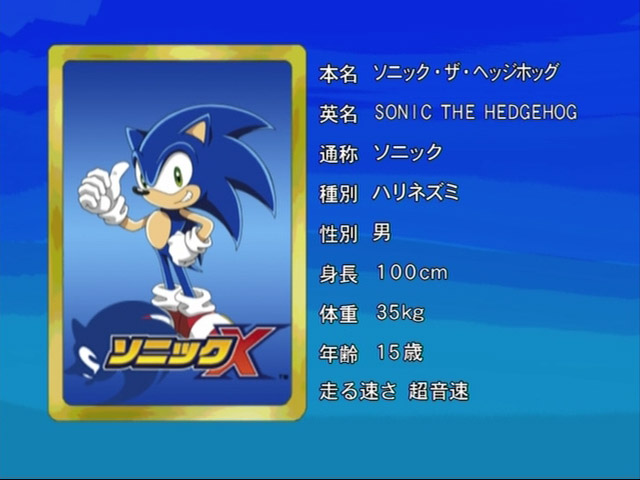 Sonic, Sonic X, Anime Eyecatch