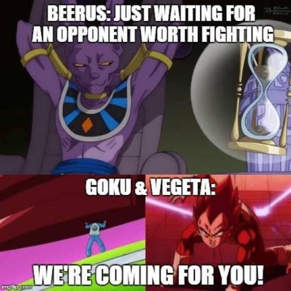 Dragon Ball Super memes, Vegeta, Beerus