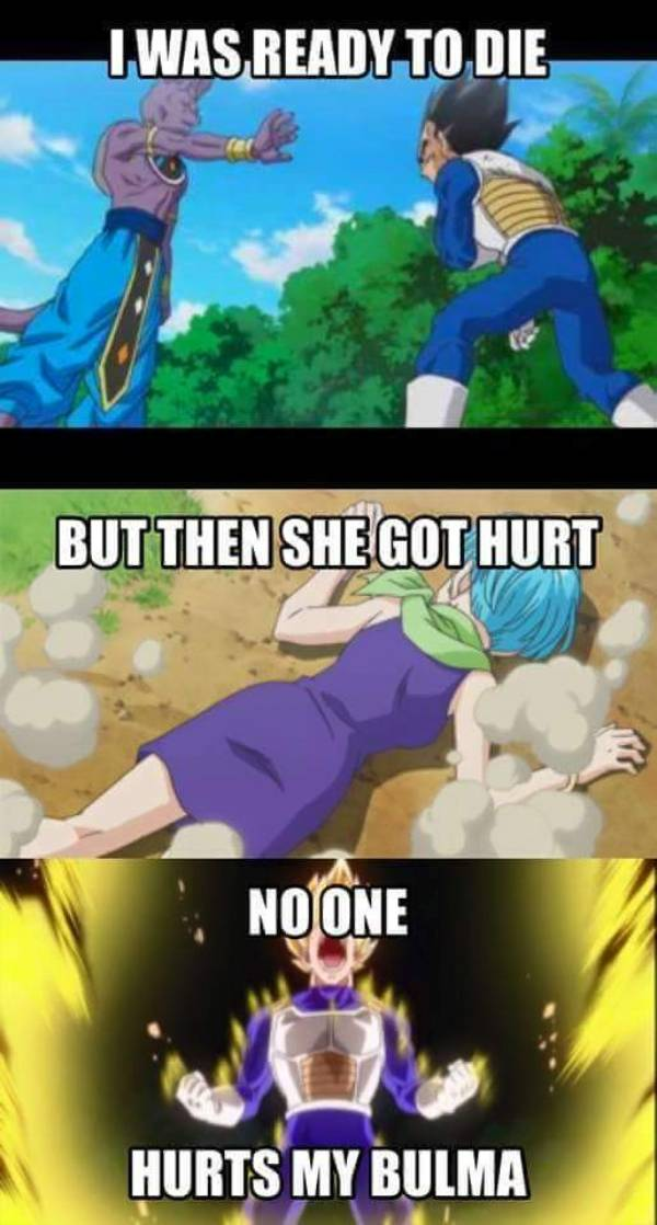 Dragon Ball Super memes, Vegeta, Beerus, Bulma