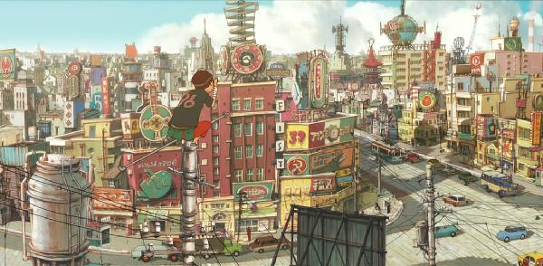 Tekkon Kinkreet, Beautiful anime art