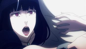Death Parade - Chiyuki holding back Shimada