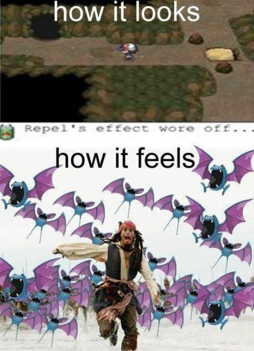 pokemon jokes, zubat, caves, repel