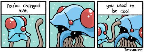 pokemon jokes, tentacruel, tentacool, pun, meme