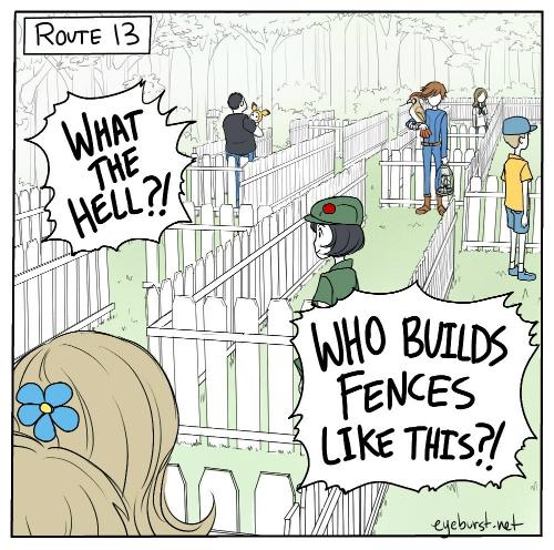 pokemon jokes, fences, games, funny