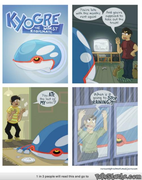 kyogre, pokemon jokes, comic