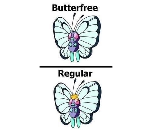 pokemon jokes, butterfree, pun