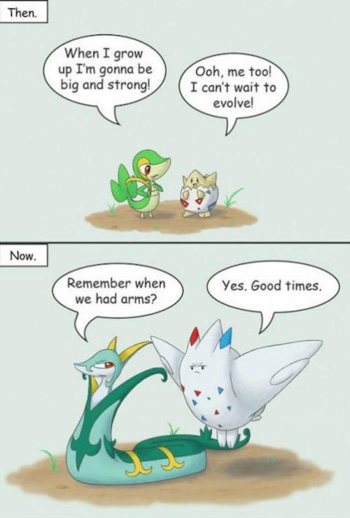 pokemon jokes, snivy, togepi, funny, comic