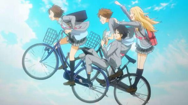 Shigatsu wa Kimi no Uso bike scene