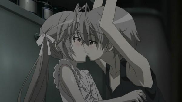 Yosuga no Sora kiss scene