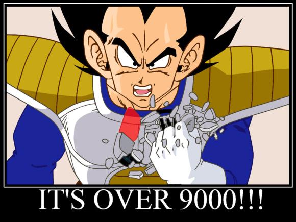 Dragon Ball Z: Vegeta meme over 9000