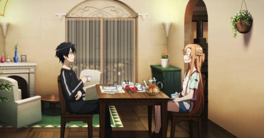 Sword Art Online skills Cooking Kirito Asuna
