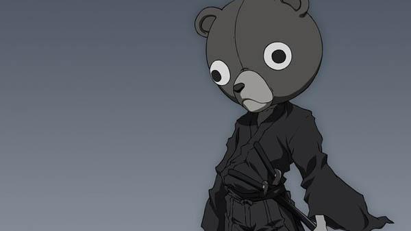 Jinno Afro Samurai Anime Cyborg