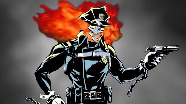 Inferno Cop Anime Cyborg