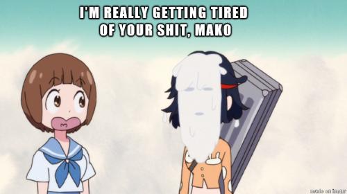 Ryuuko Matoi Mako Mankanshoku Kill la Kill memes