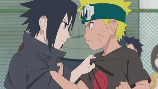 Naruto and Sasuke as kids Naruto